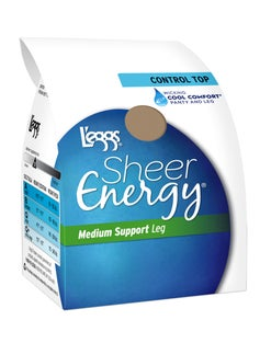 L'eggs Sheer Energy Control Top, Sheer Toe Pantyhose 6-Pack
