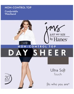 JMS Regular, Sheer Toe - 2X-4X Pantyhose 4-Pack