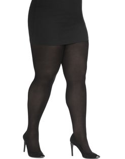 Just My Size Women's Blackout Tights with Soft-Touch Finish